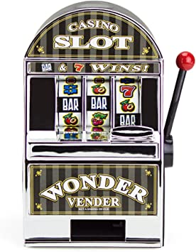 Bars and Sevens Slot Machine Bank with Spinning Reels by Brybelly ...