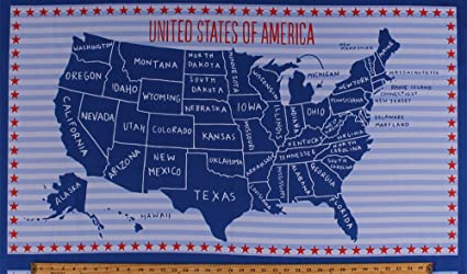 Country Map Of America.Amazon Com 23 5 X 44 Panel United States Of America Country Map
