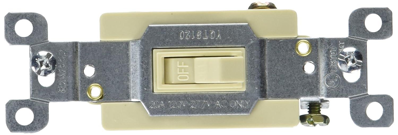 Ivory Morris 82020 Commercial Toggle Switch Single Pole 20 Amp Current 120V//277V