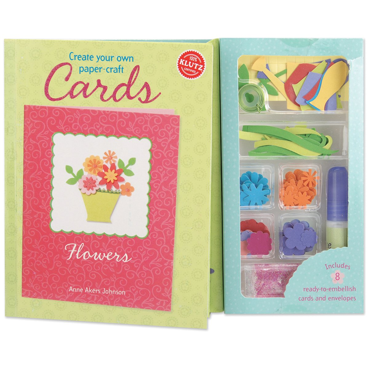 Klutz Create Your Own Paper Craft Cards Book Kit Flowers Anne Akers