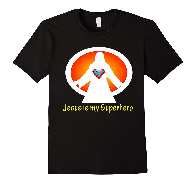 Jesus is my superhero logo t shirt cd canditee for My logo on a shirt