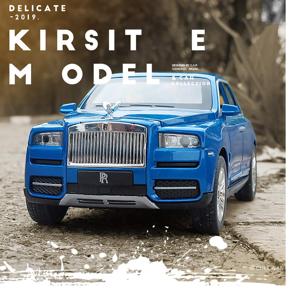 01.24 Rolls-Royce-Auto-Modell Sound and Light Return-Spielzeug-Auto SUV Spielzeug-Kind-Simulation Auto-Modell, Blau WKY (Color : Red) Red