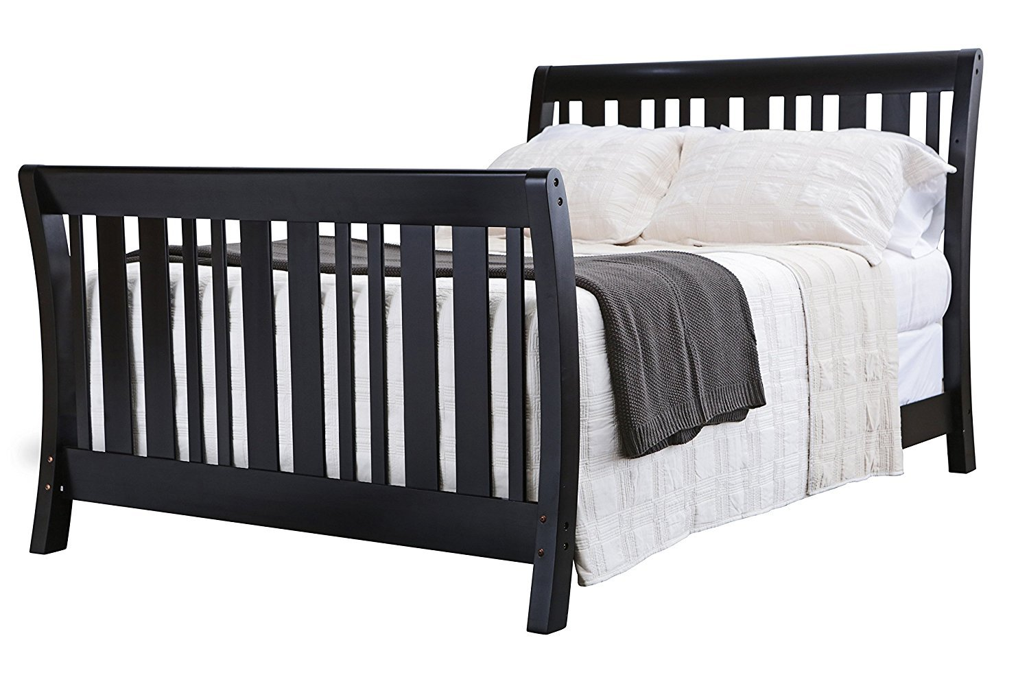 Full Size Conversion Kit Bed Rails for Nursery Smart's Darby Crib - White