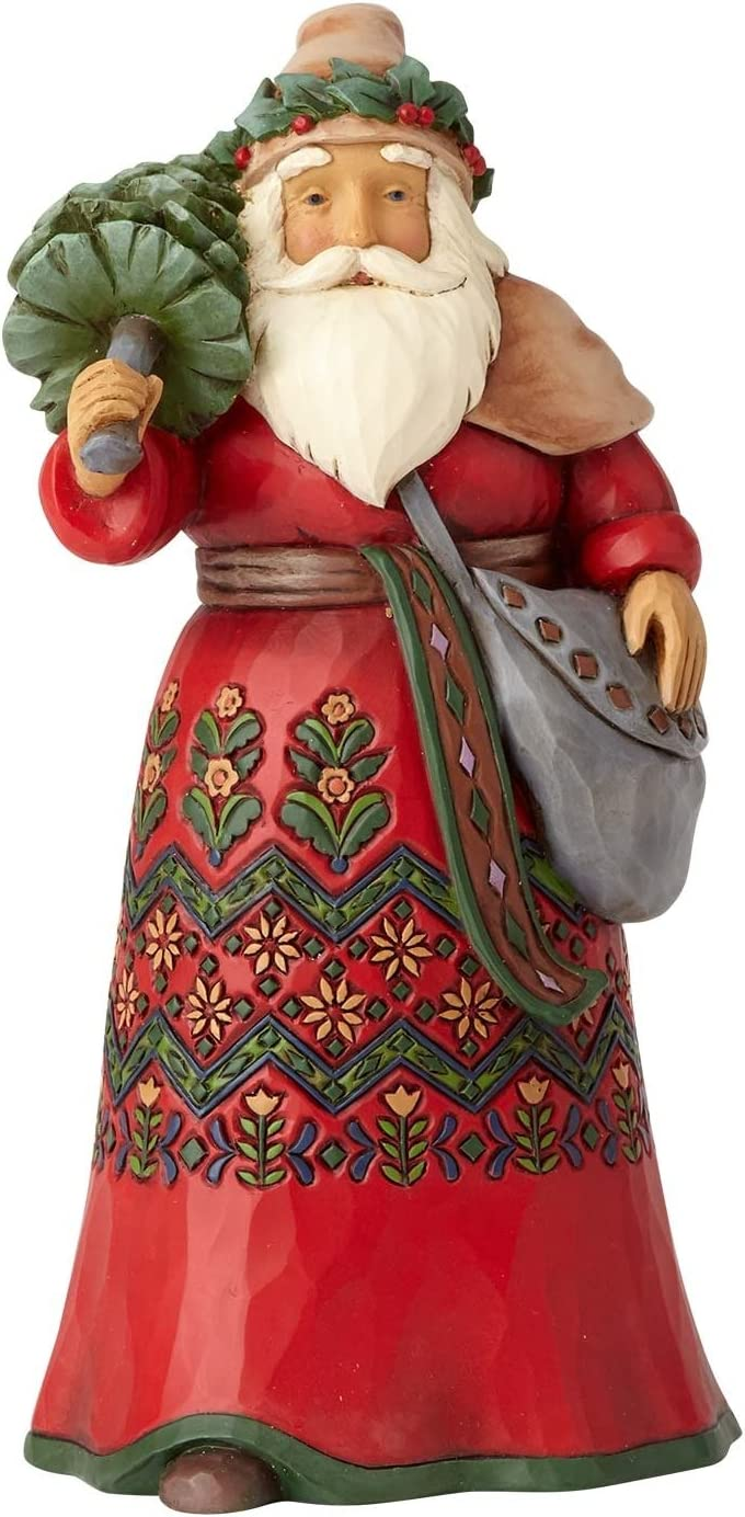 "Enesco Jim Shore Heartwood Creek Santa's Around The World Sweden Stone Resin, 7"" Figurine"