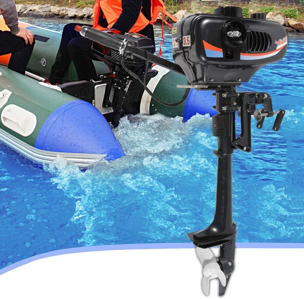 CDI 2 Takt 3.5PS Bootsmotor Benzinmotor fischerboot Motor 40cm Welle fur Fischerboot F/ÜR Kajak Aufblasbare Boat Chofesleu Au/ßenbordmotor Au/ßenbordmotoren