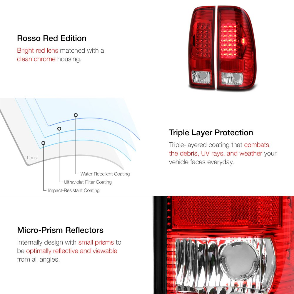 Amazon Vipmotoz Led Tail Light Lamp Assembly For 1997 2003 Ford