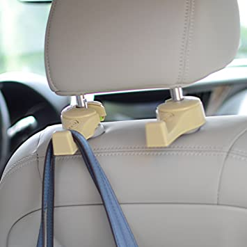 2x Black Seat Back Headrest Holder Hanger Hook Useful Auto Accessories with LED