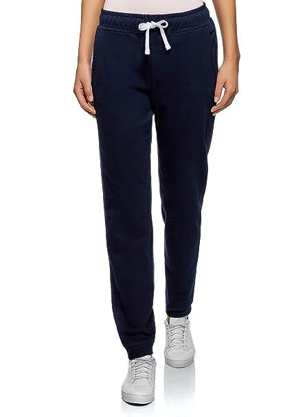 oodji Ultra Mujer Pantalones Básicos con Cordones: Amazon.es: Ropa ...