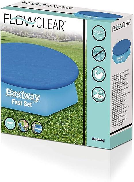 Bestway - Cobertor Para Piscina Estructura Metálica: Amazon.es: Jardín