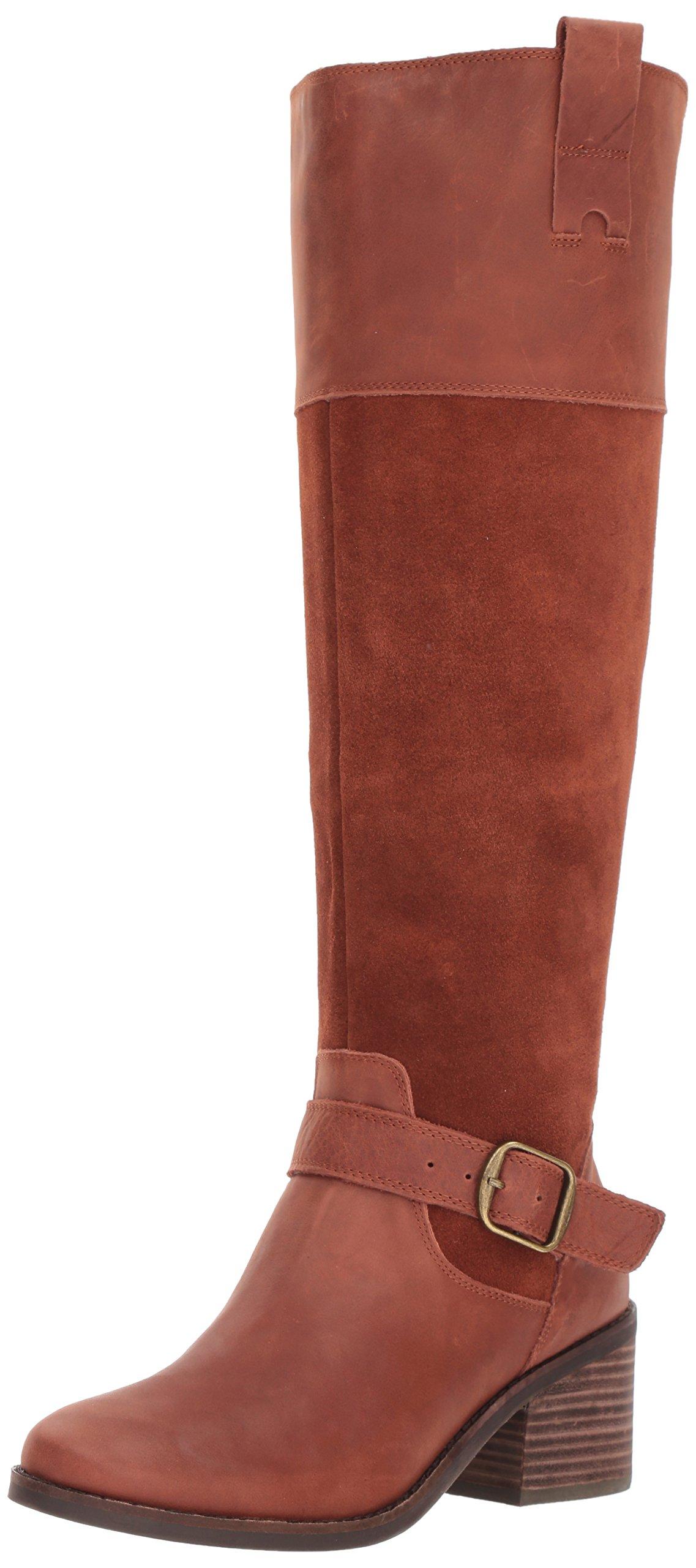 Lucky Brand Women's Kailan Equestrian Boot, Rye, 5.5 Medium US