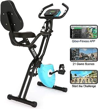 Amazon.com: Ancheer 2 en 1 bicicleta de ejercicio plegable ...