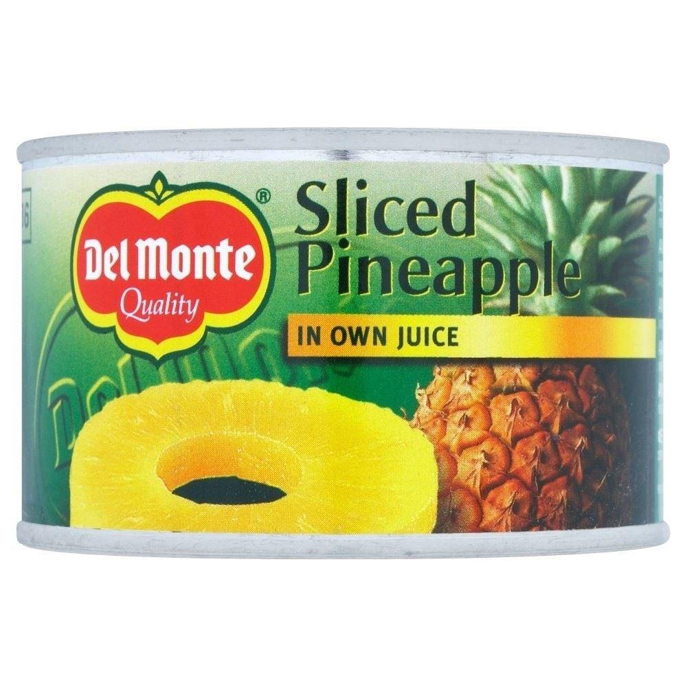 Del Monte Sliced Pineapple in Juice (220g) - Pack of 6