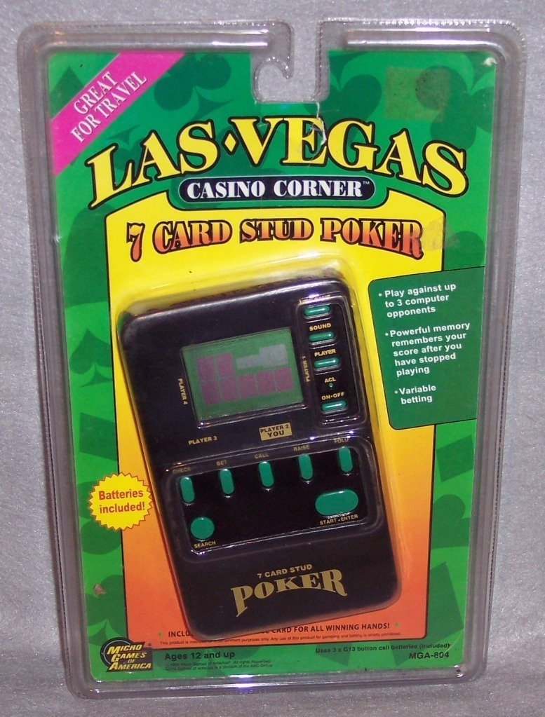Las Vegas Casino Corner 7 Card Stud Poker by Micro Games of America (English Manual)