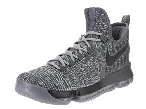 Nike Mens Zoom KD 9 Dark Grey/Wlf Grey Basketball Shoe 9 Men US
