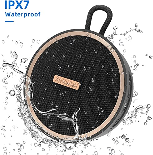 Waterproof Bluetooth Speaker, Portable Shower Speaker, Loud Stereo Sound, Rich Bass, IPX7, 12H Playtime, 66 Foot Wireless Range, Wireless Stereo Pairing, Durable Bluetooth Speakers for iPhone and More