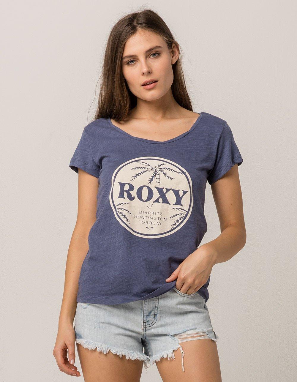 Roxy Women's Bobby Twist T-Shirt, Night Shadow Blue, XS
