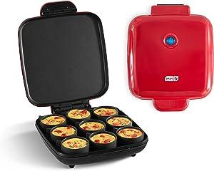 Dash DBBM900GBRD04 Sous Vide Style Family Size Egg Maker for Breakfast Bites, Sandwiches, Healthy Snacks or Desserts, Keto & Paleo Friendly (9 Servings), Red