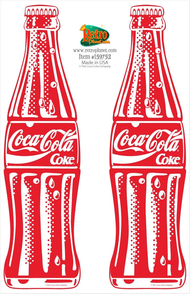 "Coca-Cola Coke Decal Sticker New Die-Cut Vinyl Coca Cola 4/"" WHITE!"