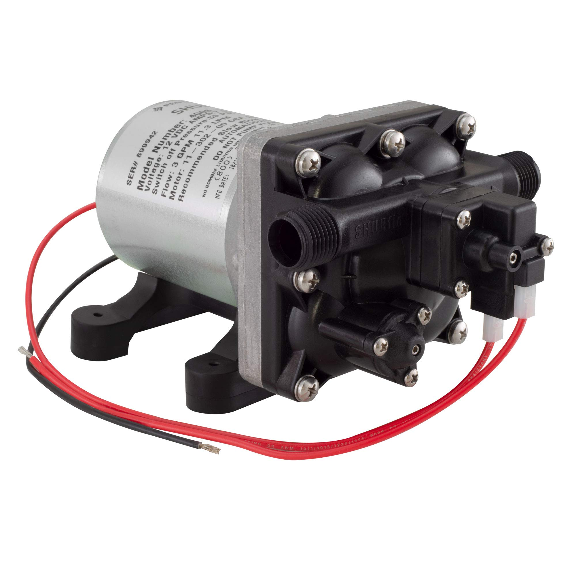SHURFLO 4008-101-A65 New 3.0 GPM RV Water Pump Revolution, 12V by SHURFLO
