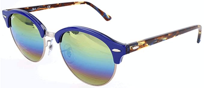 8d630e8604 Image Unavailable. Image not available for. Colour  Ray-Ban Mirrored  Browline Clubmaster Unisex Sunglasses ...