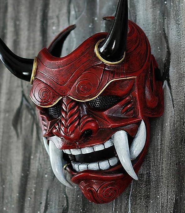 tripple_777 Samurai Assassin Demon Oni Airsoft Mask BB Gun Halloween Costume Ninja Warrior Evil Cosplay red DA01