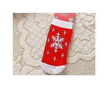 KVEYY 3 Pares De Calcetines De Bebé De Navidad Algodón Peinado Engrosamiento Calor Año Calcetines De