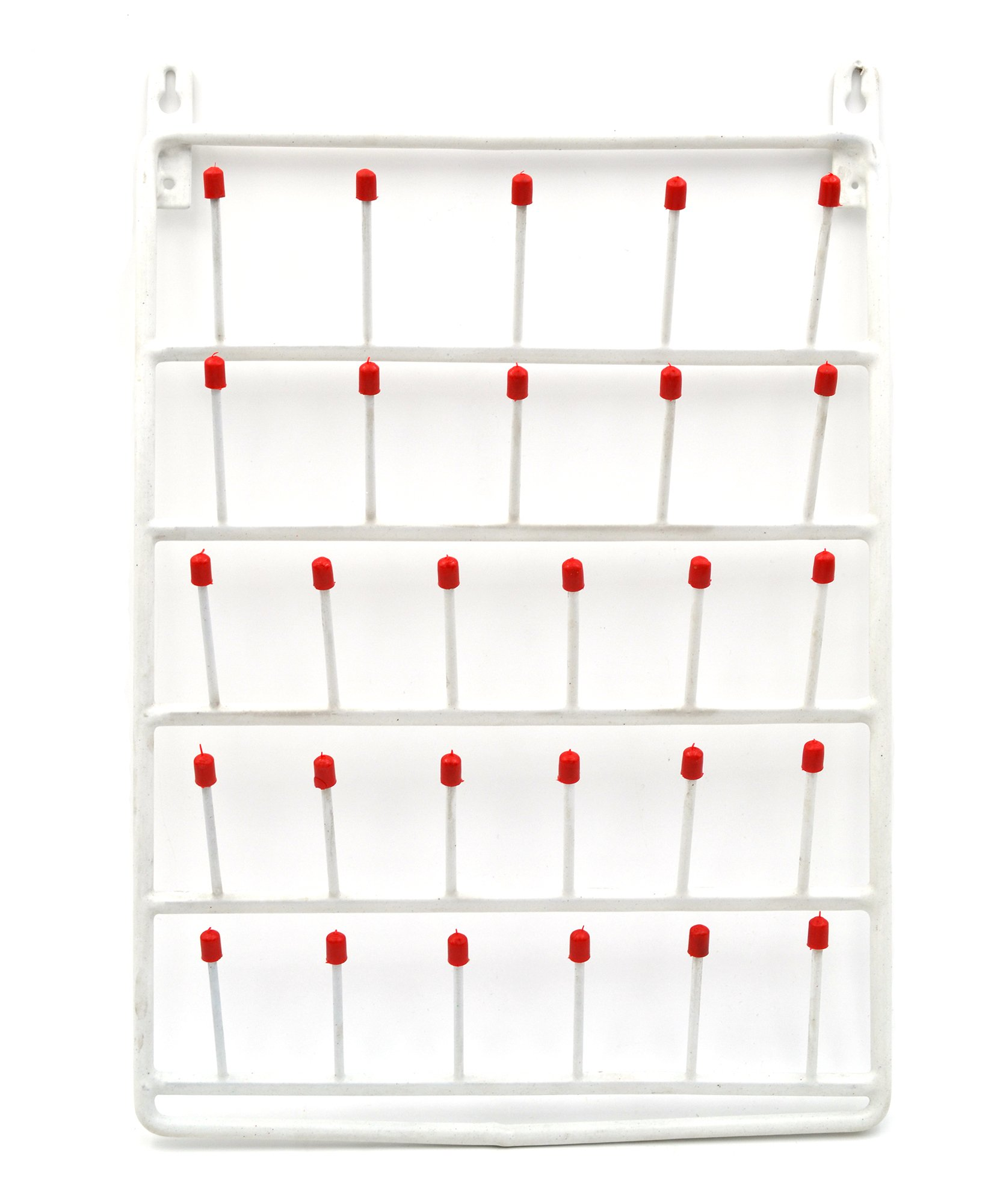 28 Peg Wall Mounted Laboratory Draining Rack - Eisco Labs by EISCO