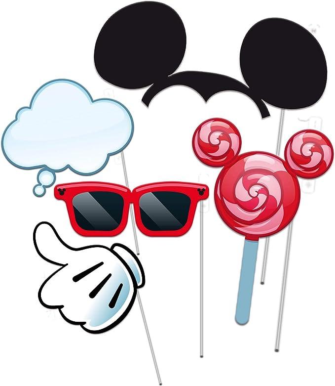 VERBETENA Accesorios Photocall Mickey Mouse (5piezas): Amazon.es: Hogar