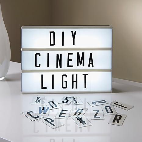 Caja de Luz LED A4 con 160 Letras, Números, Símbolos, Letras Ñ y