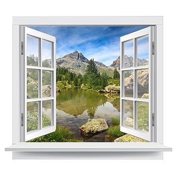 Premiumdesign Wandtattoo Fenster Schoner Ausblick In Eine Ruhige