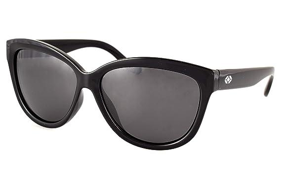 2dcadaa7cb Amazon.com  13Fifty Miami Cateye Polarized Women s Sunglasses (Black ...