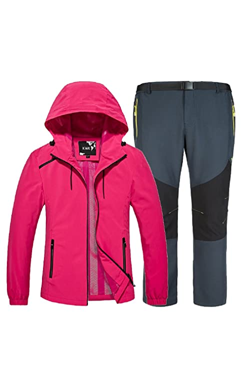 733d4dcf0c7a KARMARY Donna Giacca Invernale Impermeabile Softshell Running Escursionismo  Abbigliamento Sportivo Leggero Antivento Traspirante Cappotti, Uomo