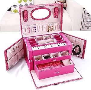 Strawberries Cake Caja de Regalo para Joyas, diseño de Fresas, para Joyas, para Maquillaje, para Mujer, para Guardar Joyas: Amazon.es: Hogar