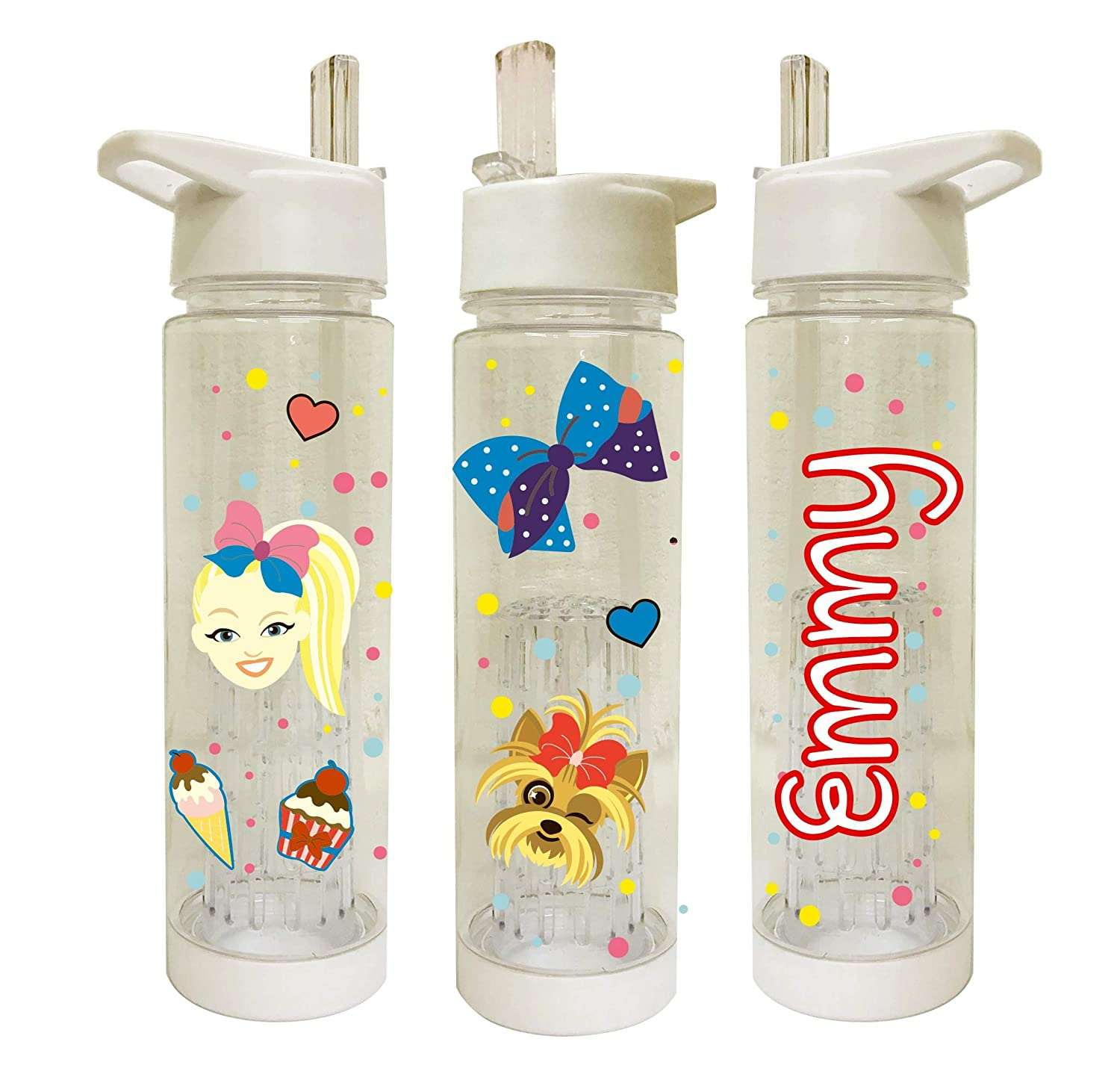 Add Your Name Pink Custom Design Uveeka Official Love Our Islander Style Personalised Water Bottles *Scratch /& Washproof* White with Fruit Infuser