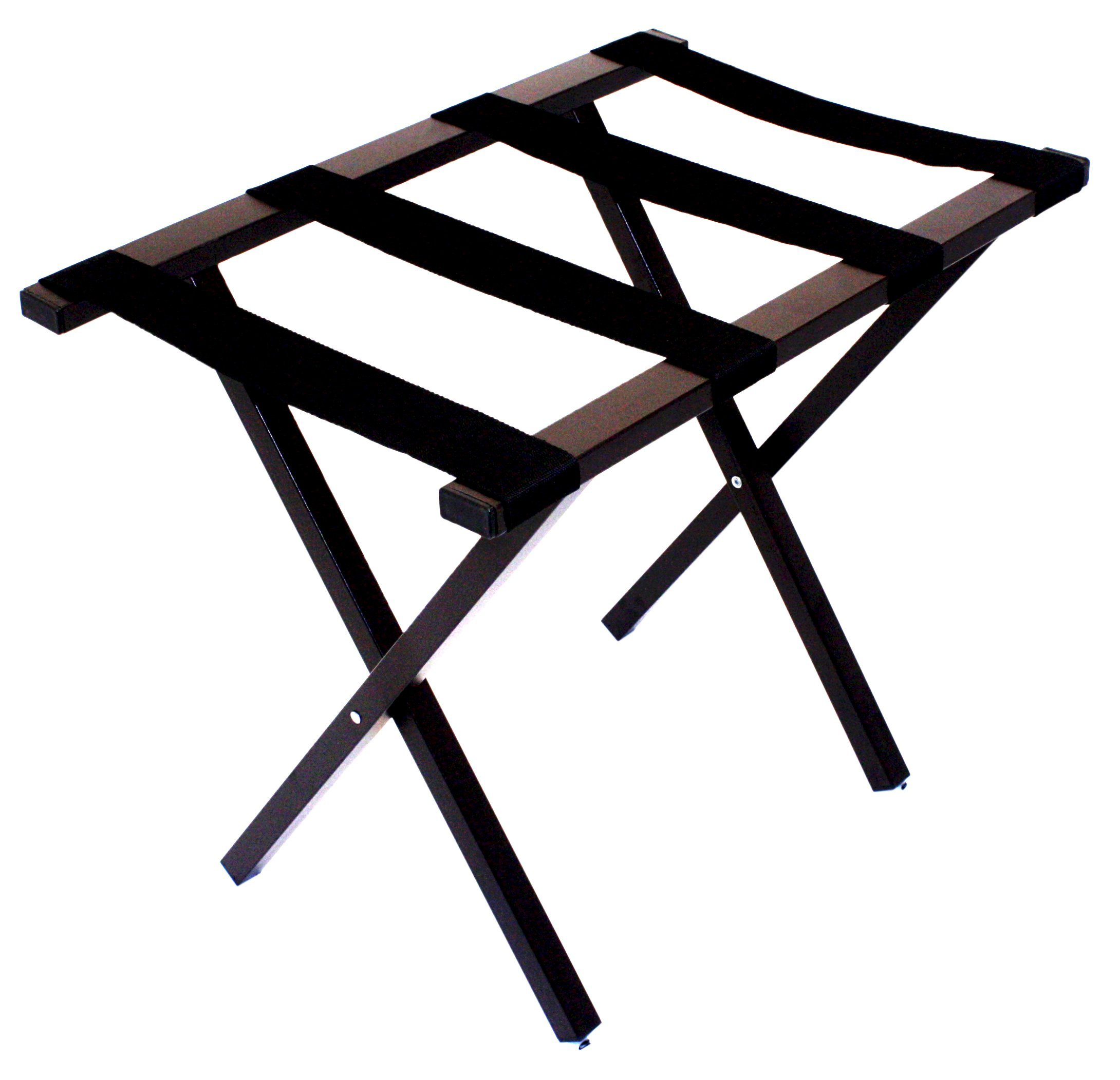 Wholesale Hotel Products Square Tube Metal Luggage Rack, Brown Finish
