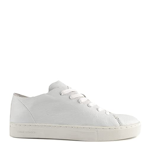 Crime London Raw Sneaker con Lacci Bianco Donna 37 Bianco  Amazon.it ... ab277b1b35