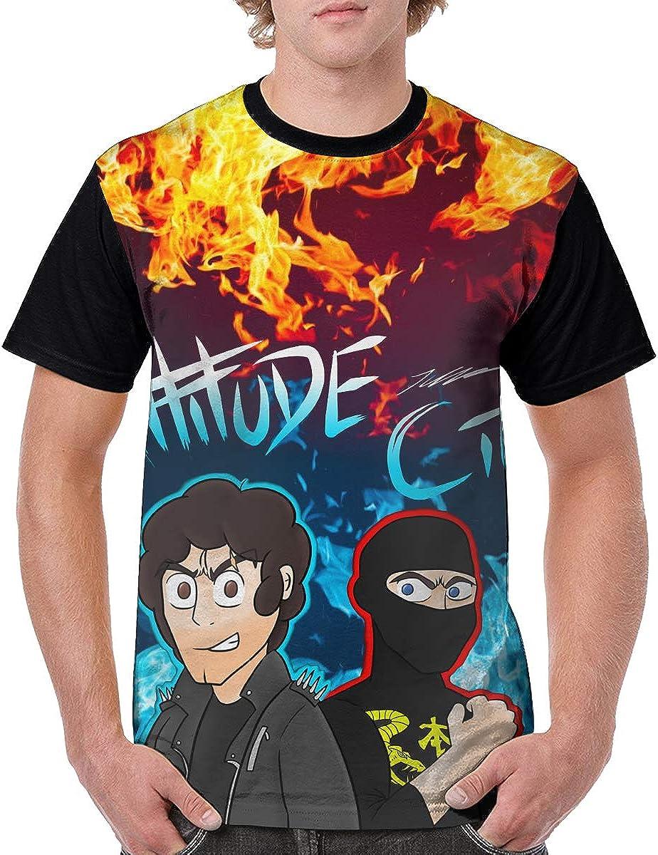 Ninja Sex Party Attitude City T Shirt Men's Casual Short Sleeve Baseball T-Shirt