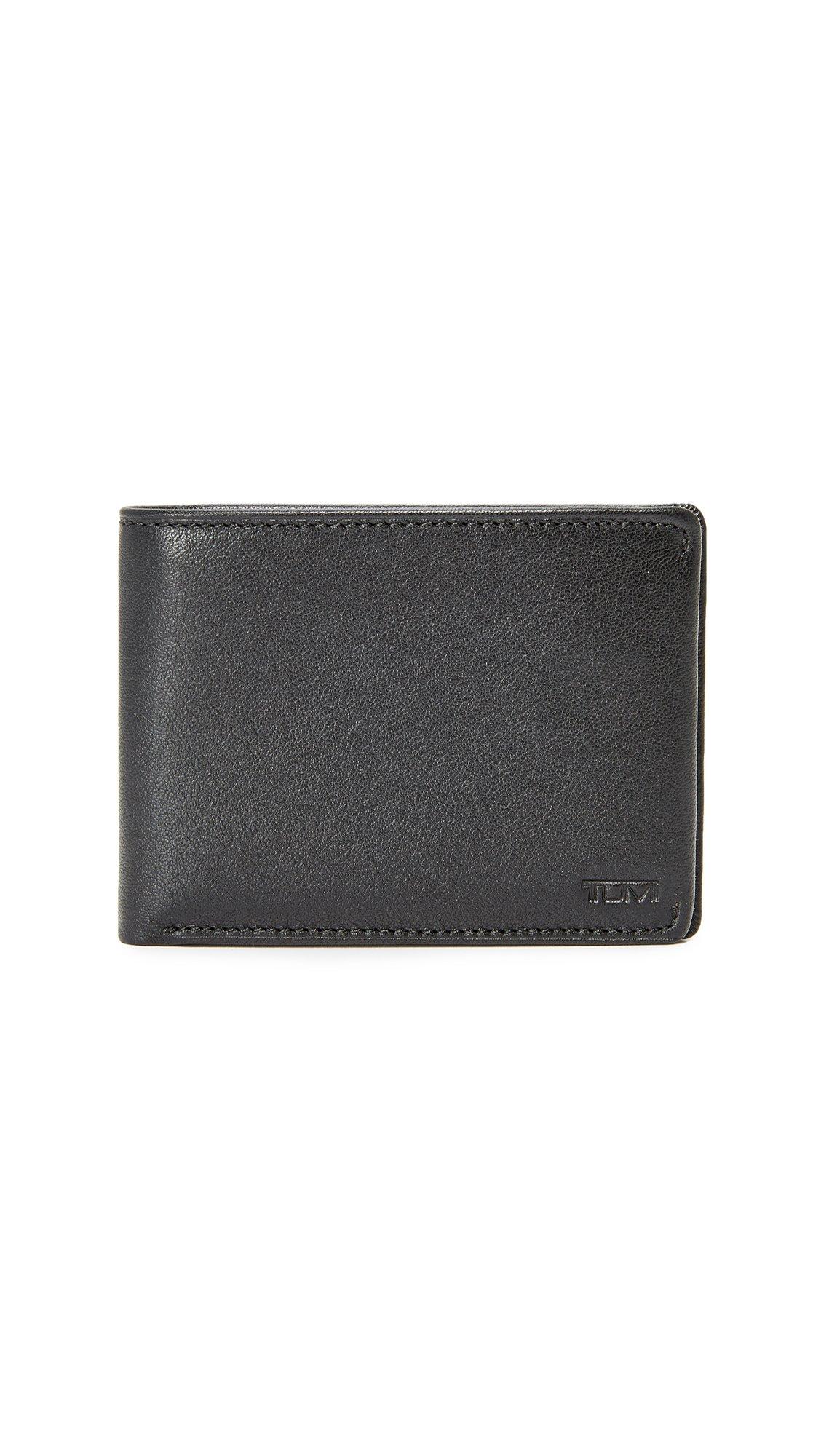TUMI Men's Nassau Double Billfold Wallet Accessory, -black texture, One Size