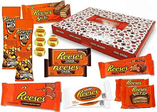 Reeses - Sweet Box - XXL Cesta de regalo | 18 dulces estadounidenses diferentes | Tazas de mantequilla