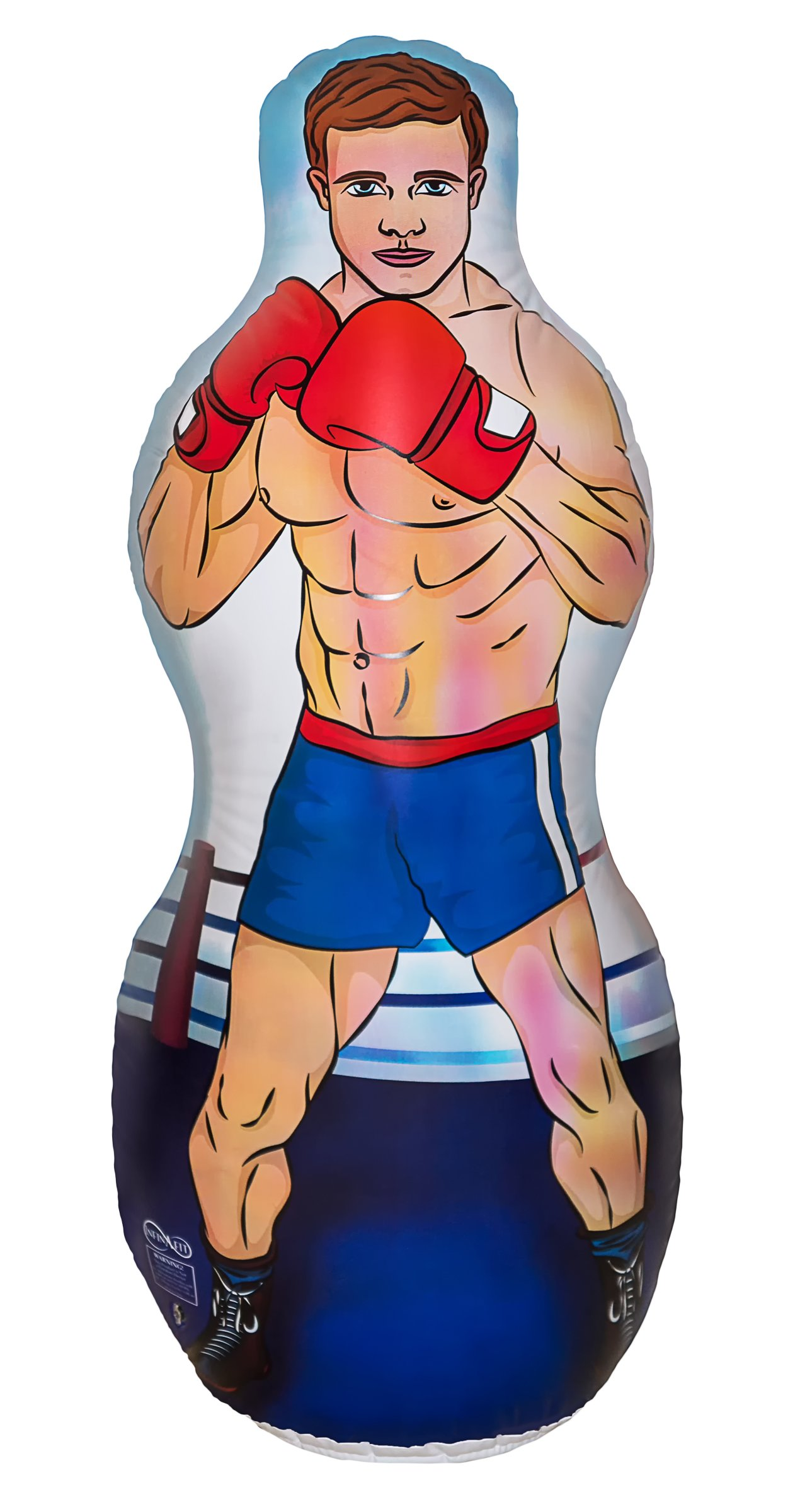Infinafit Inflatable Two Sided Karate and Boxing Punching Bag   Includes One Inflatable 5 Foot Tall Bop Bag with Illustration of a Karate Master on One Side and Boxer on Reverse Side by ImpiriLux (Image #3)