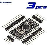 RobotDyn - 3 PCS - Pro Mini ATmega328 (3.3V, 8MHz), + A6-A7 pins - Enhanced version, Compatible for Arduino Pro Mini.