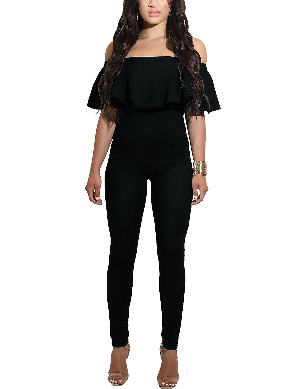 02c3819564a7 CoCo Fashion Women s Spaghetti Strap Sleeveless Unitard Tank Jumpsuit  Romper  Amazon.co.uk  Clothing