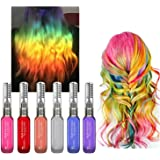 6 Colors Temporary Hair Color Chalk Set- Efly Instantly Hair Dye Colorful Sticks For Kids Hair Dyeing Party and Cosplay