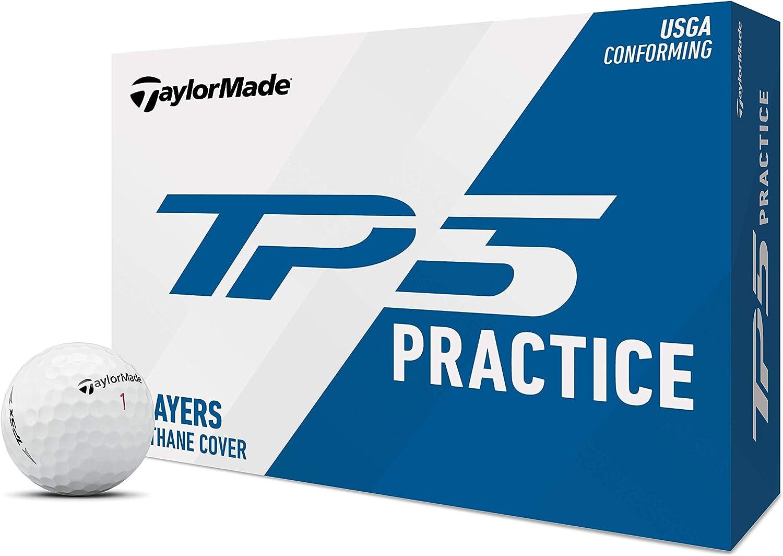 TaylorMade TP5 Golf Ball, Practice Dozen, White