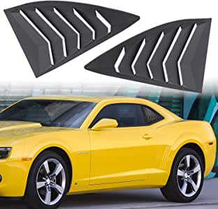 Carbon Aishun Dtouch 2 Piece ABS 2 Piece Window Left//Right Matte Finish Racing Style Rear Side Window Vent//Louvers Fit for 2016-2018 Chevy Camaro