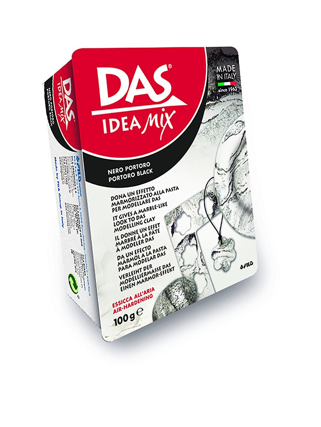 Das Idea Mix Air-drying Mineral-based Clay 100g Black by Das Colour (Image #4)
