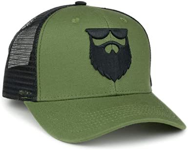 No Shave Life Apparel OG Logo Barba Malla Gorra Militar Verde ...