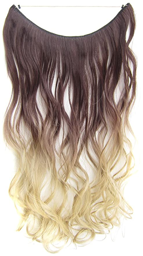 Buy 4t24 Flip In Wavy Curly Ombre Dip Dye Synthetic Hair Extension