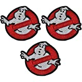 Ghosbusters No/Ghost Symbol Patch Set of 3 Cosplay Iron On Patches