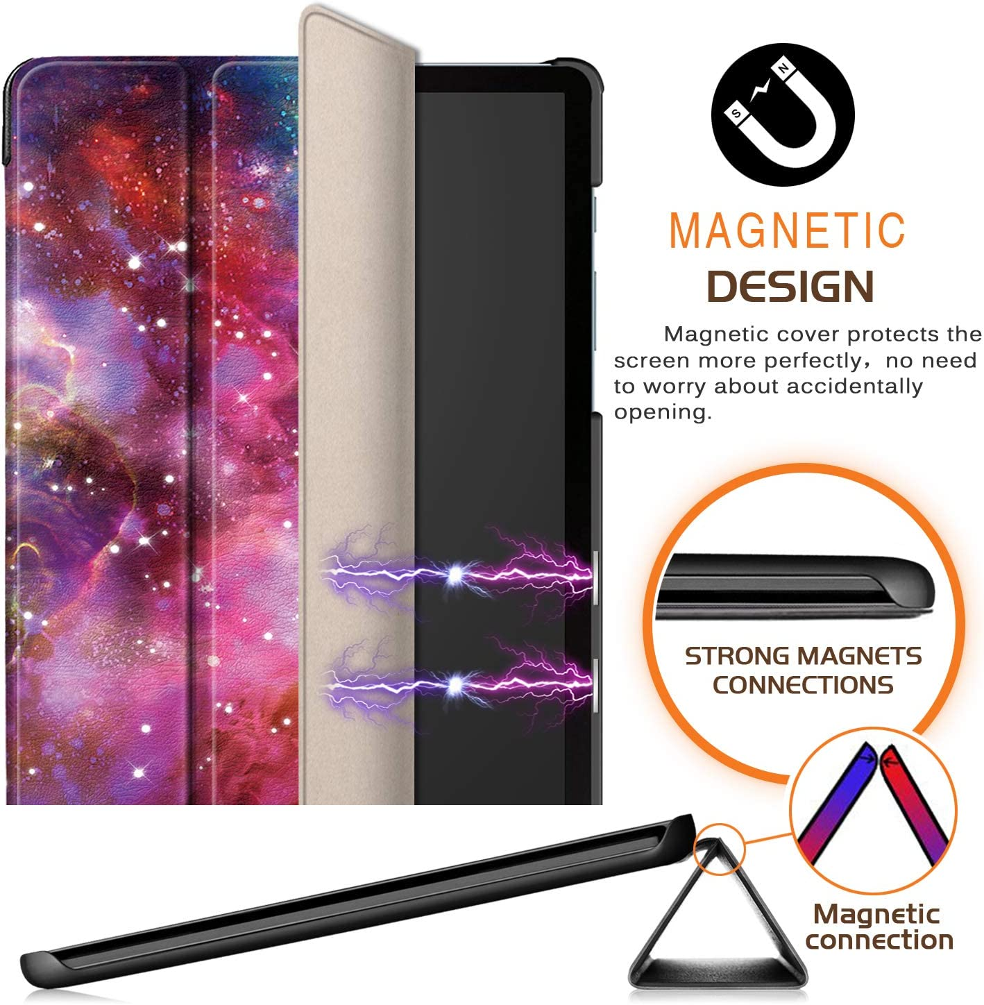 T860 T865 Xuanbeier Ultra Slim Case Compatible with Samsung Galaxy TAB S6 10.5 SM Standing cover for Galaxy Tab S 6 10.5inch 2019 Version Dont touch